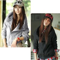 2013 New Fashion Korean Women S Slim Sexy Top Designed Hoodies Coat Jacket S M L