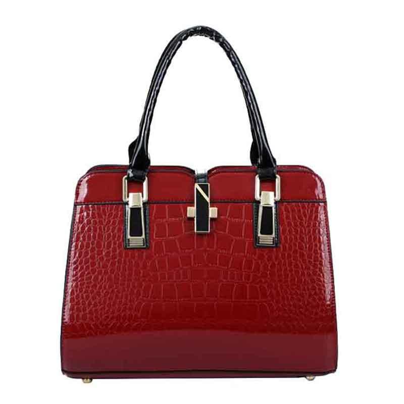 Fashion Brand Crocodile Pattern Women Bag White Italian Leather Cheap Handbags For Women Female Cross-Body Briefcase Shopper Bag