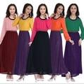 2017 Мусульманин платье абая исламской одежды для женщин хиджаб дубай кафтан шифон абая jibabs длинные платья