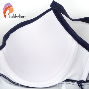 Image 5 - Andzhelika 2018 New Women One Piece Swimsuit Solid Sexy Fold Swimwear Swim Suits Bodysuit Summer Beach Bathing Suit AK1905
