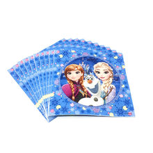 High Quality 10pcs/Lot Disney Frozen Theme Napkin Print Queen Elsa Festival Kid Birthday Event Party Decration Serviette Supply(China)