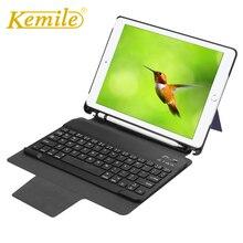 Kemile Case For Ipad 2018 Wireless Bluetooth 3.0 Keyboard Auto Sleep W Pencil Holder Wake Cover For ipad 2018 9.7 A1893 A1954 цены онлайн