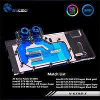 Bykski Full Coverage GPU Water Block For All Series Public GTX980 Inno3D GTX980 970 Graphics Card N GX98 X