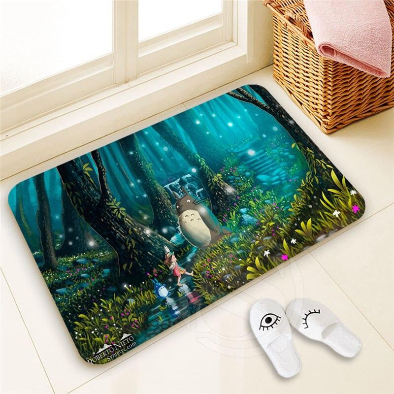 High Quality Custom Totoro Doormat Home Decor 100% Polyester Pattern Door mat Floor Mat foot pad SQ00722-@H0711