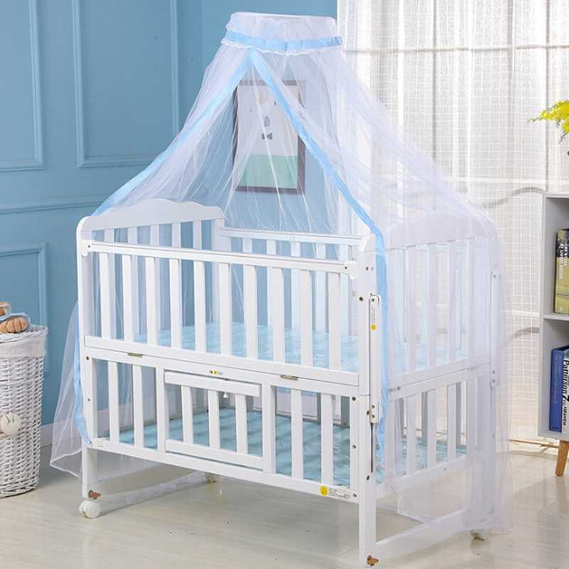 Summer Mosquito Net Baby Bed Cover With Lace Foldable And Breathable Mesh Net With Royal Court Style Canopy For Cribs