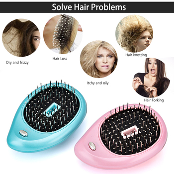 Portable Electric Ionic Hairbrush Hair Massage Comb Hair Magic Beauty Brush Comb Massage Home Travel Hair Styling Tool 3
