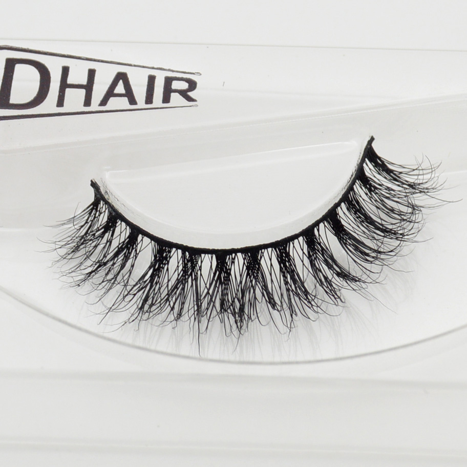 Visofree 3D Mink Eyelashes Upper Lashes 100% Real Mink Strip Eyelashes Handmade Crossing Mink Eye Lashes Extension A03