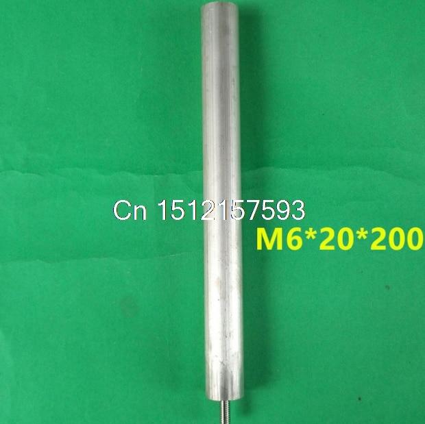 M6*20*200 20cm Shank Length M6 5.7mm Male Dia 20mm Shank Diameter Magnesium Anode Rod for Waterboiler 20 200