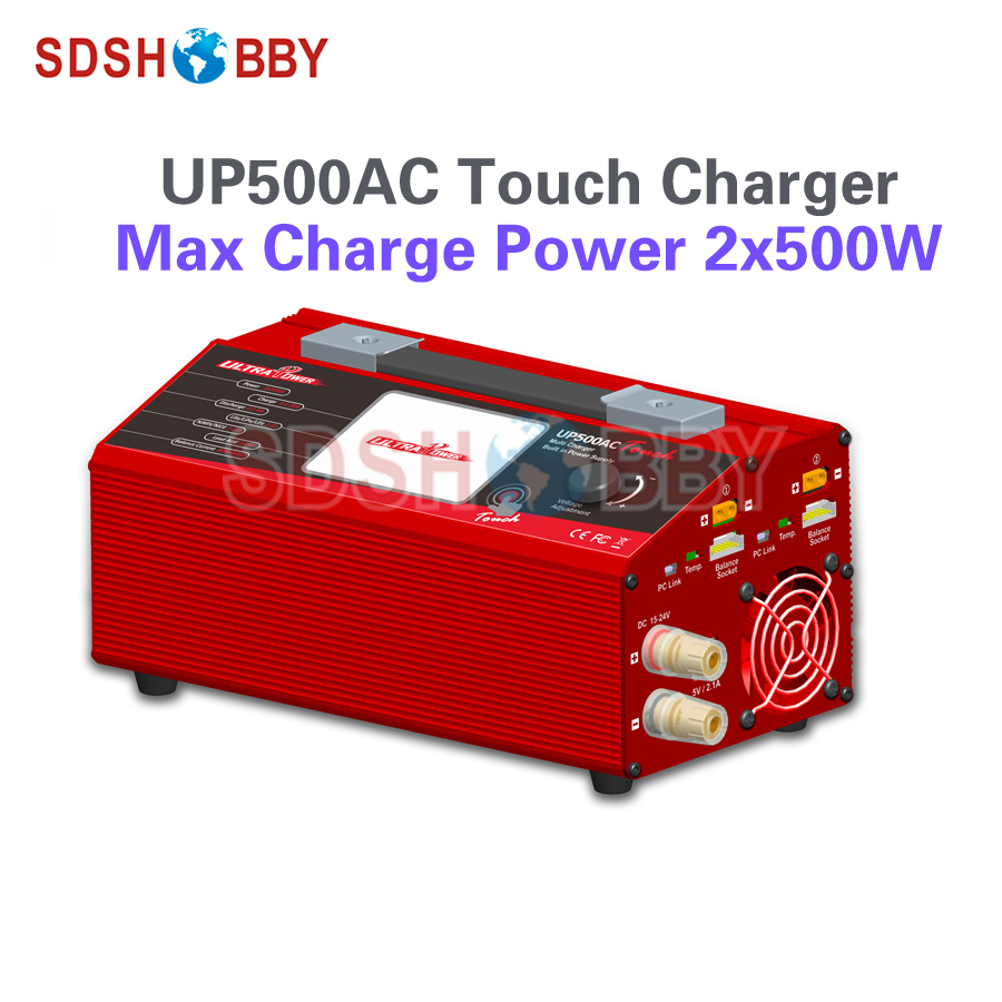 UP500AC Touch Charger 500W 1000W Big Power RC Model Airplane Multicopter LiIo/LiPo/LiFe/LiHv/NiCd/NiMH/ Pb Battery Charger replacement charger for bosch 7 2v 9 6v 12v 14 4v 18v 24v nicd nimh power tool battery vacuum cleaner