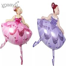 Ynaayu 1pcs Ballet Girl Foil Balloons 113 X 84cm Large Size Balloon For Baby Birthday Wedding Party Decoration