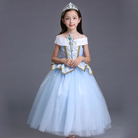 ABGMEDR Brand New High Quality Girls Christmas Dress Princess Aurora Costume Children Cinderella Dress Girls Dresses Clothes
