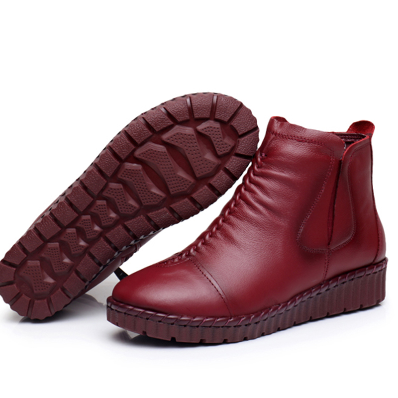 GKTINOO Fashion Winter Shoe Boots Genuine Leather Ankle Shoes Vintage Casual Shoes Brand Design Retro Handmade Women Boots Lady