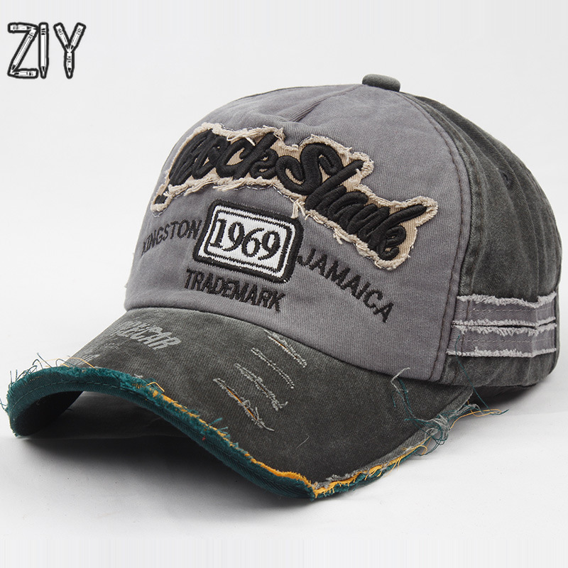 Cotton Embroidery Letter   Baseball     Cap   Snapback Bone Vintage Distressed Gorro Casual Washed Adjustable Outdoor Brand Dad   Cap   Hats