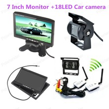 Оптовая 18 LED rearviwe камера + 7 Дюймов TFT LCD ЦВЕТНОЙ Экран Заднего Вида Монитор, бесплатная доставка
