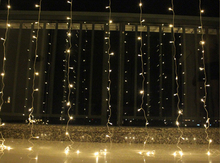 3×1/3×2/4x2m LED Icicle String Lights Christmas Fairy Lights garland Outdoor Home For Wedding/Party/Curtain/Garden Decoration