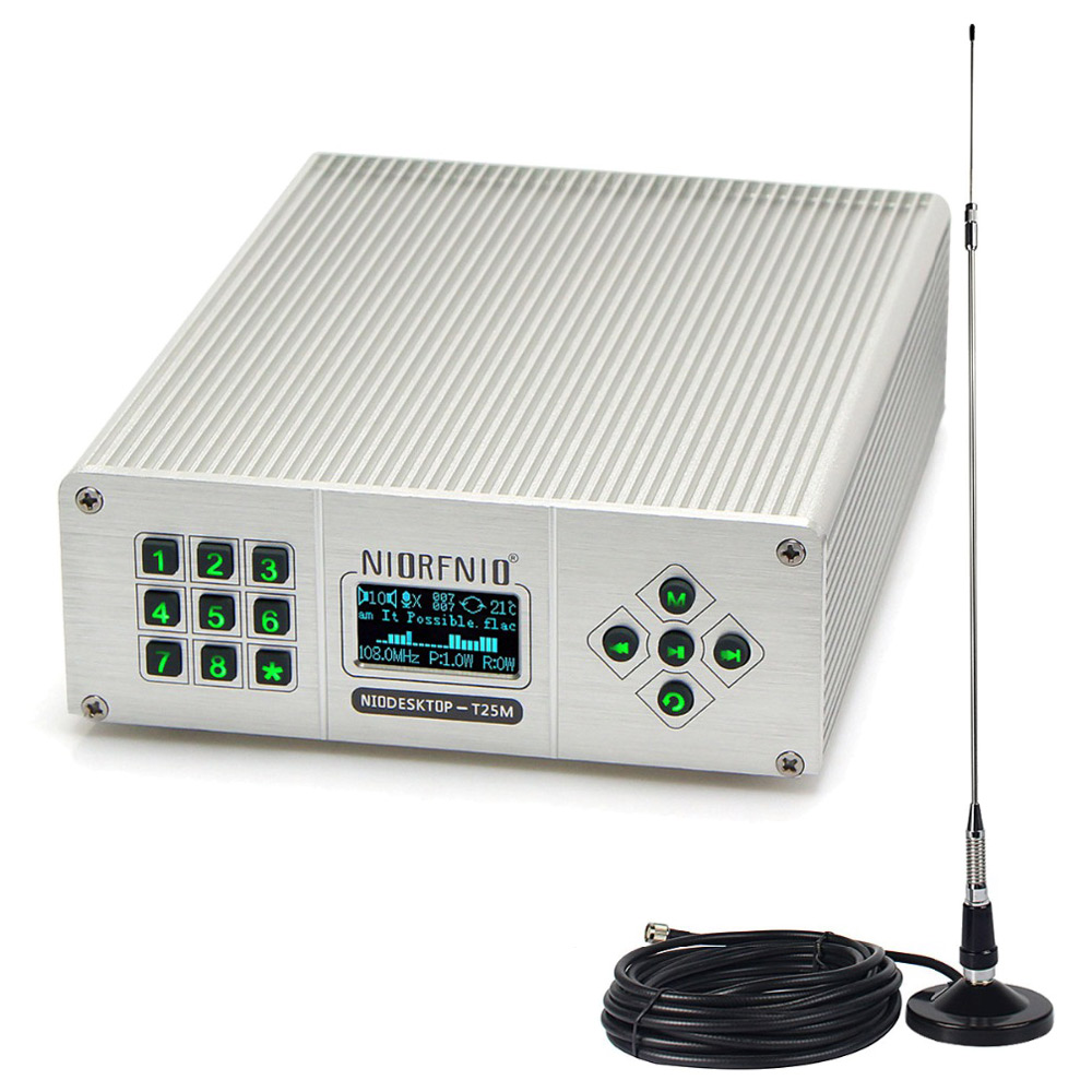 25 W PLL FM émetteur Mini Radio stéréo Station sans fil sans perte de diffusion de musique + puissance + antenne Y4441A