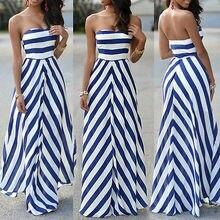 Women Summer Sexy Long Maxi Party Sleeveless Stomacher Dress