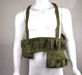Излишки оригинальные вьетнамские войны китайский Тип 63 мешок грудь-RIG BANDOLIER MAG AMMO мешок-мировой военный магазин