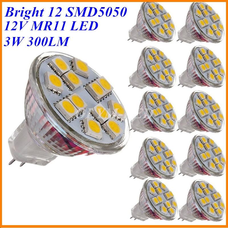 10X3 Watt Led lampe MR11 12 V Scheinwerfer GU4 Birne 12 SMD5050 ...