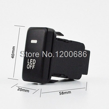 DC12V Panel Mount Black Pilot Lamp 4 Wire Fog Light Switch for Toyota Camry Discount 50 Size 60mm x 42mm x 25mm (L*W*T)