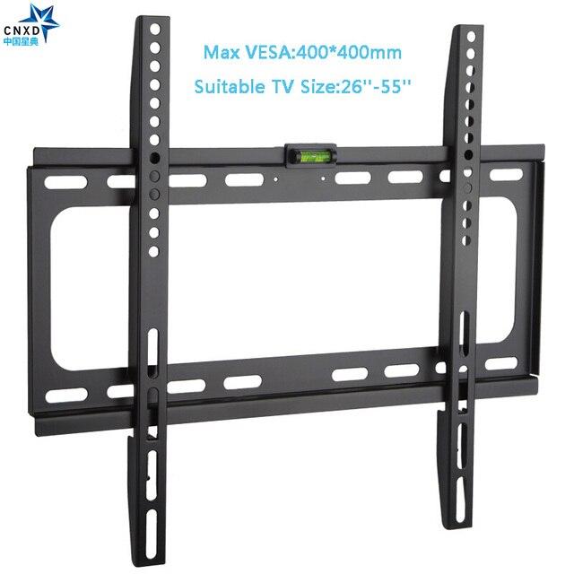 קבוע טלוויזיה קיר הר אוניברסלי 50 KG הטלוויזיה קיר הר סוגר קבוע טלוויזיה שטוח מסגרת עבור 26 55 אינץ LCD LED צג שטוח