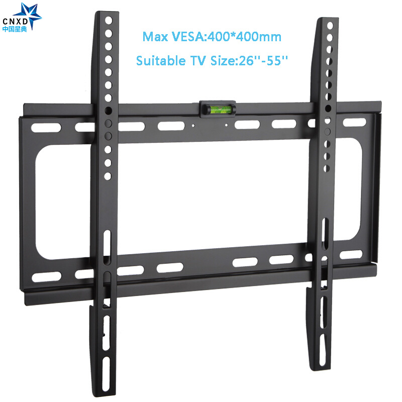 Fixed TV Wall Mount Universal 50KG TV Wall Mount Bracket Fixed Flat Panel TV Frame for 26-55 Inch LCD LED Monitor Flat Panel extra slim 2014 led bracket vesa 600 400 tv mount led tv wall bracket 55 60 for tv free shipping