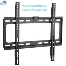 Soporte de pared de TV fijo Universal, 50KG, soporte de pared de TV, marco de TV de Panel plano fijo para Monitor LCD LED de 26 55 pulgadas, Panel plano