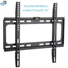 Support mural TV fixe universel 50KG support de montage mural TV écran plat fixe cadre TV pour écran plat LCD moniteur LED 26 55 pouces