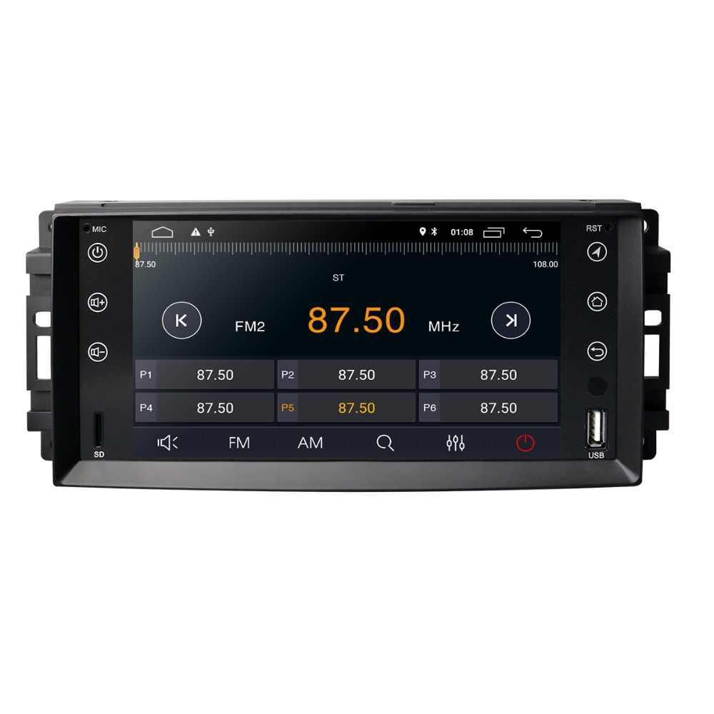 Новый 7 дюймов Android 8,1 автомобильный стерео для Jeep Grand Cherokee Chevrolet Commander Dodge Chrysler 300C плеер DVR TPMS DAB Бесплатная камера