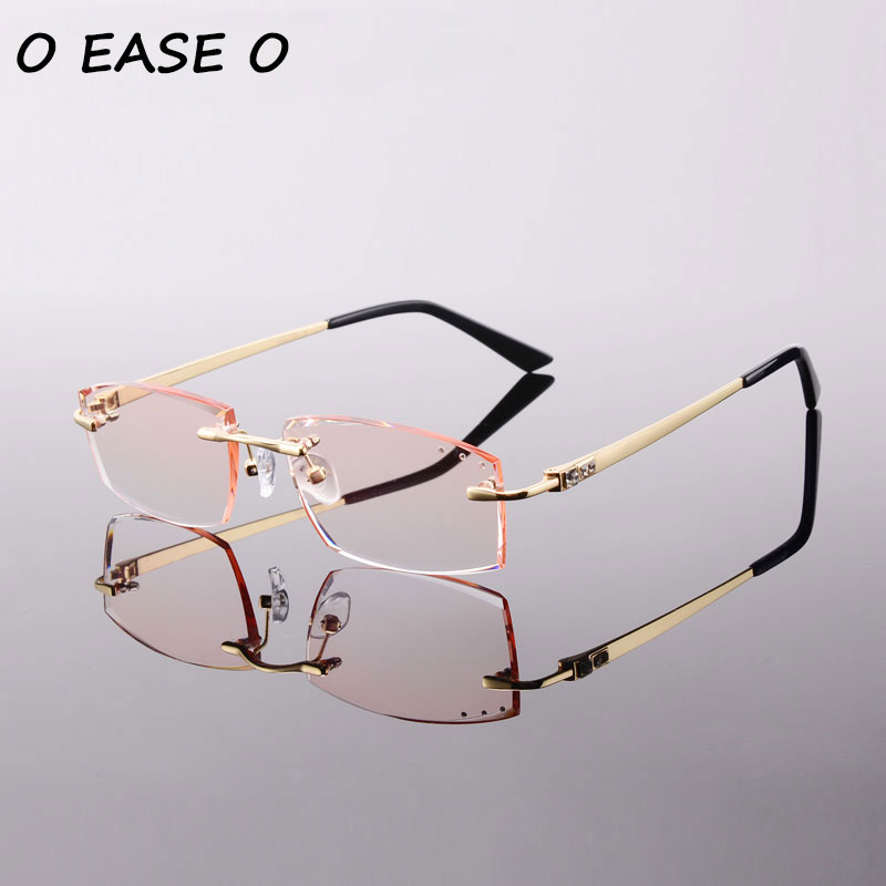 93aaa16de14 2017 Korean Female Optical Frame Including 1.61 Asphereic Tinted or Clear EMI  Lens titanyum gozluk cercevesiz