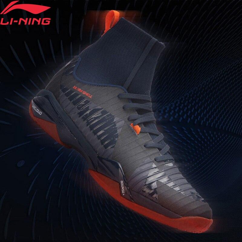 (Клиренс) Li Ning мужские тени лезвия PRO профессиональный бадминтон обувь BOUNSE + подкладка облако кроссовки спортивная обувь AYAN005 XYY079