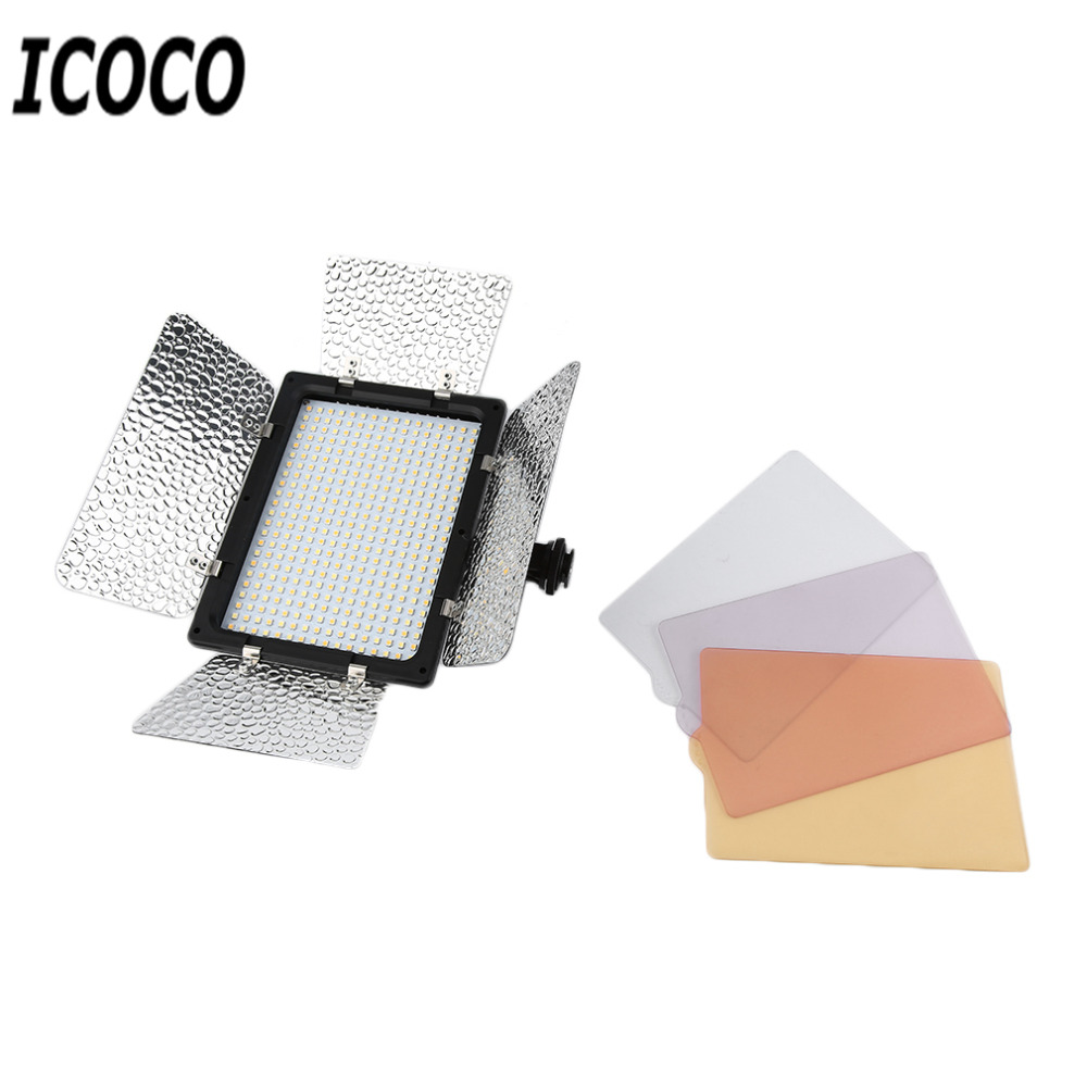 ICOCO New WS-368 Photographic Lamp LED Lamp Video Light Photo Lighting On Camera 23W 6300K For Sony NP-F Series Camcorder Camera photographic lighting led film light nicefoto mf 2000f video photo studio flash light lamp power 200w 5500k with dc ac input