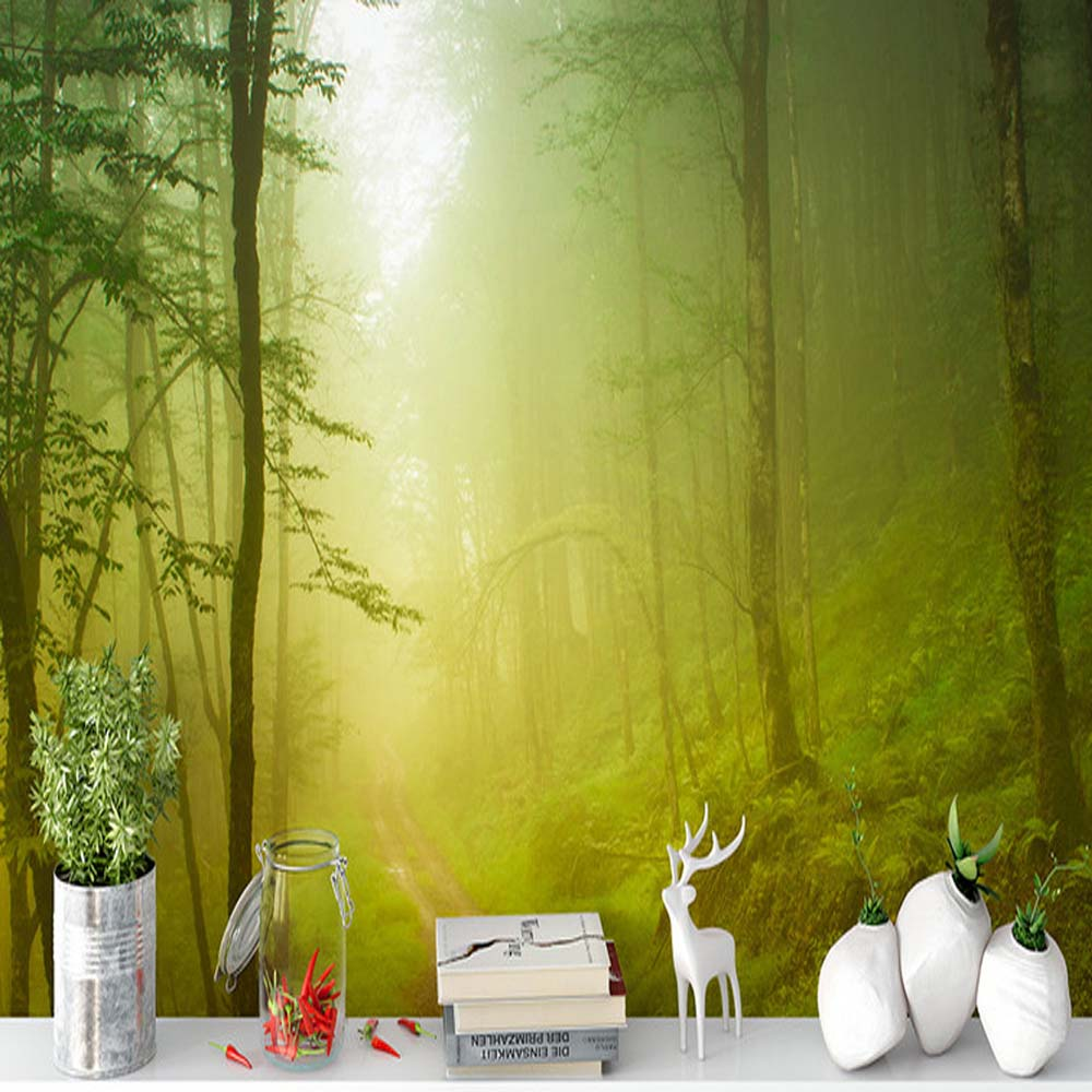 Forest Nature Landscape Wall Mural Photo Wallpapers for TV ...
