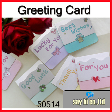 Wholesale greeting card thanks business good luck best wishes shop wholesale greeting card thanks business good luck best wishes shop gift festival mini letter message sayhi m4hsunfo