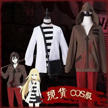 5cb34b5ff Biamoxer Anime juego ángeles de la muerte Cosplay Rachel Gardner Ray Isaac  Foster Cos de Halloween hombre mujer Cosplay traje con peluca