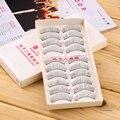 O Envio gratuito de 20 Pares/2 Conjunto Nova Maquiagem Cílios Postiços Macio Cruz Natural a Longo Eye Lashes Extensão maquiagem