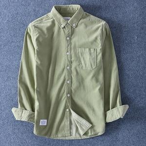 Image 5 - Schinteon Top Kwaliteit 100% Katoen Corduroy Shirt Lange Mouwen Dieptepunt Shirt Slim Fashion Brand S 4XL
