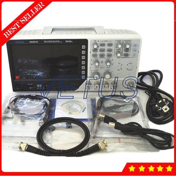 Hantek DSO4072C USB Analyseur de Spectre 2 Canaux 70 mhz Numérique Osciloscopio avec numérique oscilloscope générateur de signaux 1GSa/s