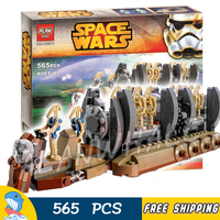 565pcs New Space Wars Battle Droid Troop Carrier 10374 Figure Building Blocks Toys Boys Robots Ship Compatible With LegoING