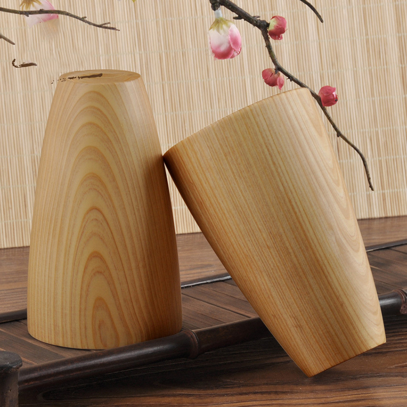 Creative Natural Original Wooden Bottle Beer Cup High Quality Hand-made Wood For Water Wine Coffee Drinkware Tea