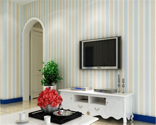 beibehang papel de parede wall paper Fashion Mediterranean simple striped imports nonwoven living room sofa background wallpaper beibehang mediterranean english kids room papel de parede wallpaper for living room bedroom wall paper background contact paper