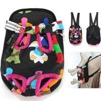 Colorido Algodón Perrito Pequeño Perro de Mascota Pet Travel Bag Carrier Frontal Mochila Bolsa de Red Surtido Surtido Patrón S