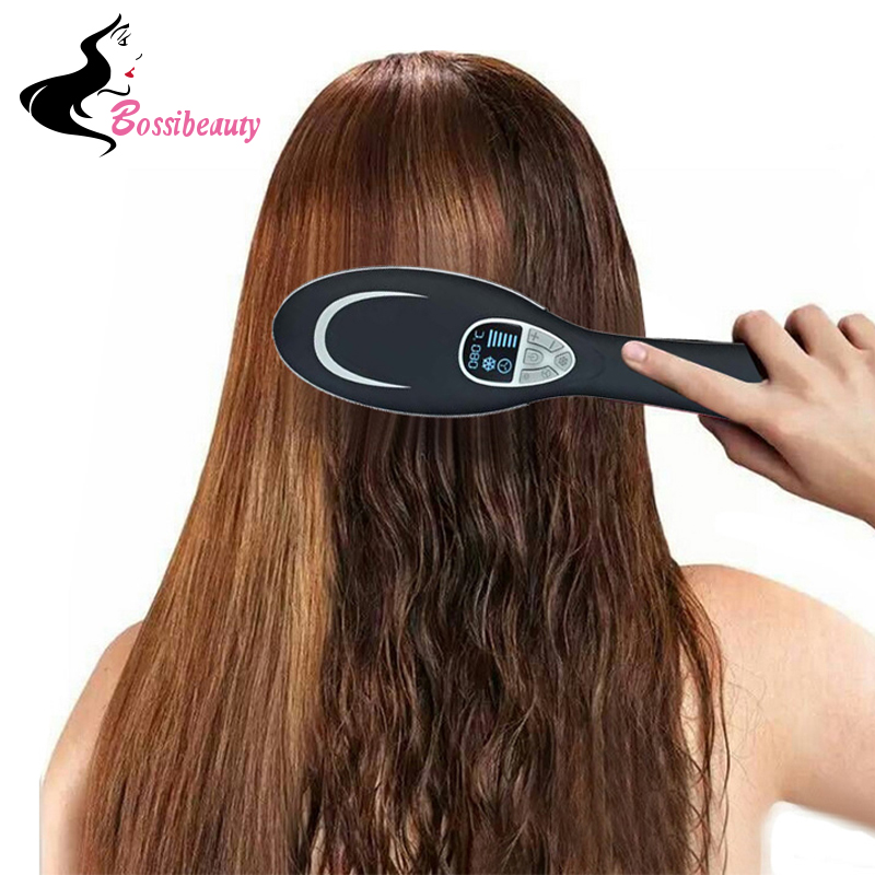 Professional Ionic Fast Dryer Hair Brush Flat corrugation for basal volume LED display Comb for straightening hair kilting пудра kapous professional volume up powder hair volume trick