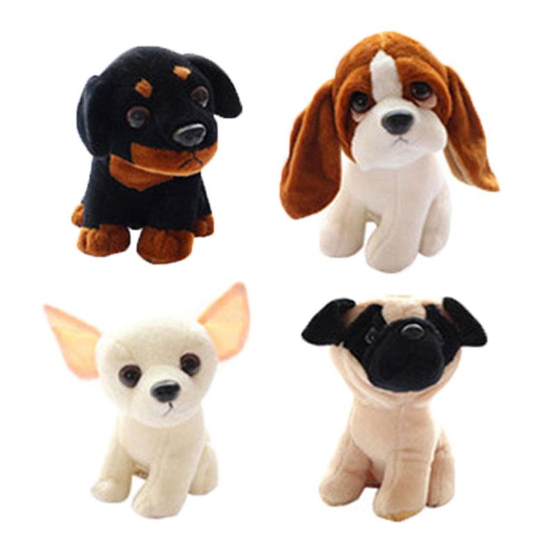 (1 Piece) 22CM Stuffed Simulation Dogs Plush Sharpei Pug Basset Rottweiler Chihuahua Puppy Pet Children Kids Toys Birthday Gifts  цена и фото