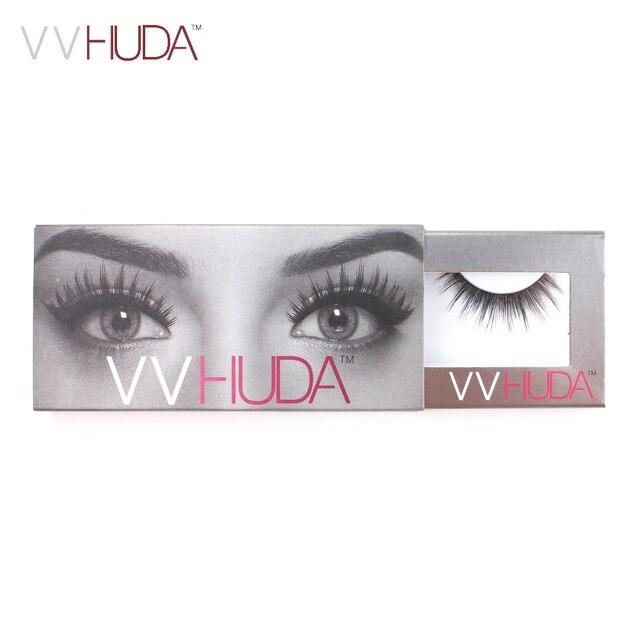 Pestañas postizas VVHUDA colección de visón 3D fibras naturales largo grueso reutilizable de extensión Premium Real de piel de ojos falsos pestañas