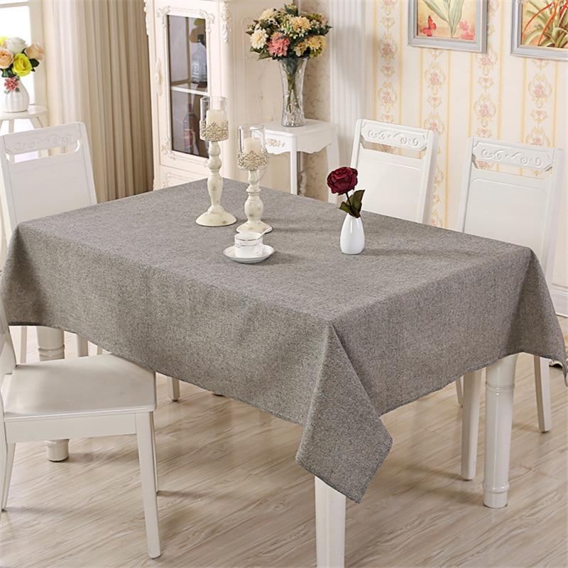 Big Sale 6c57 Cotton Modern Table Cover Simple Plain Tablecloth