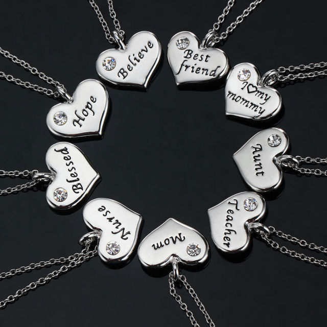 Heart crystal mom dad best friend nurse teacher daughter sister heart crystal mom dad best friend nurse teacher daughter sister pendant necklace silver chain choker necklaces mozeypictures Image collections