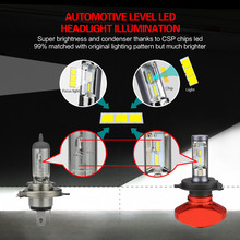 Zdatt Headlight H4 H7 H8 H9 H11 H1 9005 HB3 9006 HB4 9003 HB2 Led Bulb 80W 8000Lm Car Light 12V Fog Lamp Automobiles 6000K CSP