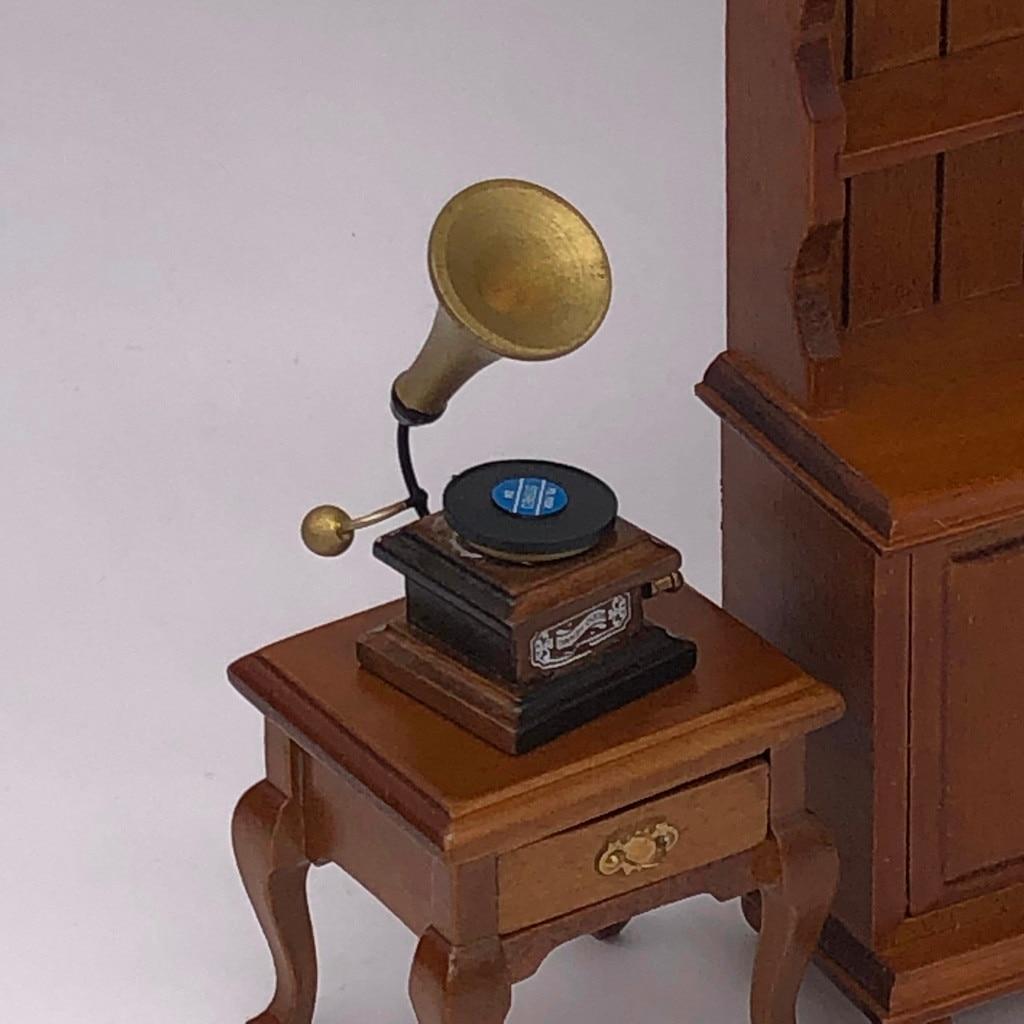 Vintage Phonograph Record Dollhouse Miniature 1:12 Scale Doll Mini Life Scene