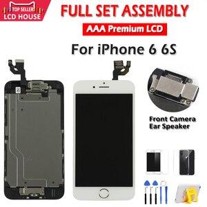 """Image 5 - Tela 4.7 """"branco preto para iphone 6 6s lcd conjunto completo de montagem 100% completo com toque de força 3d display de substituição para digitalizador"""